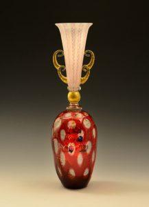 レースガラス花器「バルーン」
